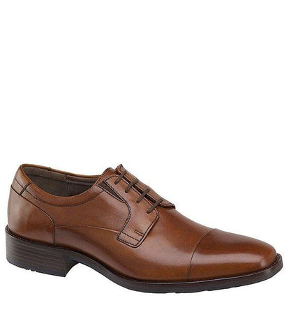 JOHNSTON & MURPHY TAN LANCASTER DRESS CAP TOE OXFORD