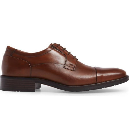 JOHNSTON & MURPHY  LANCASTER CAP TOE DERBY SHOES