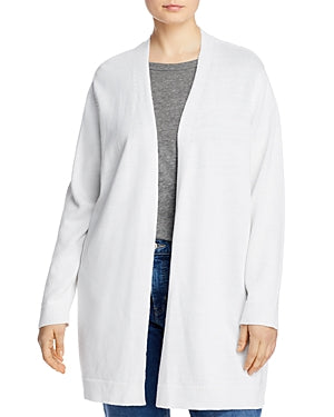 EILEEN FISHER - Women's Open-front Cardigan Sweater In White