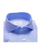 Emanuel Berg Lightweight Chambray Micro Pattern Luxury Sportshirt