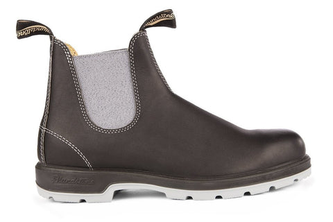 Blundstone 1452 - The Leather Lined, Black with Grey Elastic and Two-Tone Sole