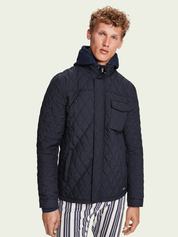 Scotch & Soda - Shorter length quilted jacket