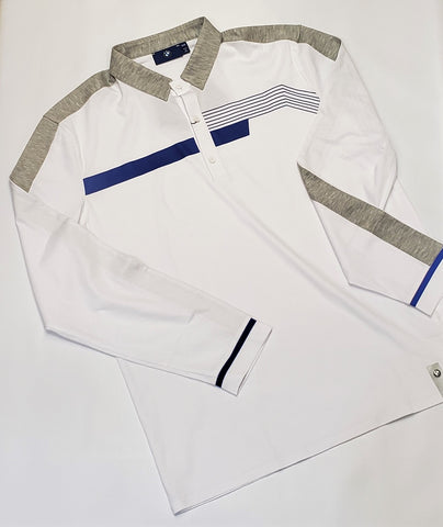 BMW  Long Sleeve Polo White