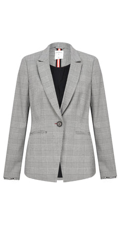 Sandwich Blazer with plaid print