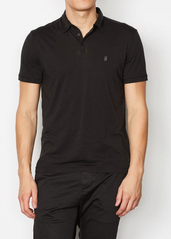John Varvatos - Anton S/S Burnout Polo with Peace Sign