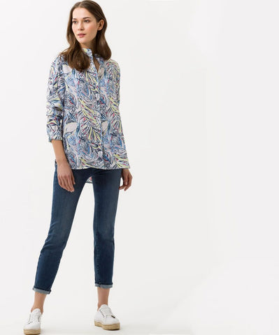 Val Linen Printed Blouse