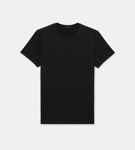 Black Men's Iconic Pima Cotton Stretch T-Shirt