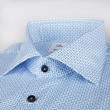 Stenstroms Leaf Patterned Fitted Body Shirt