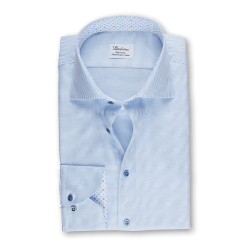 Stenstroms Light Blue Fitted Body Shirt With Contrast