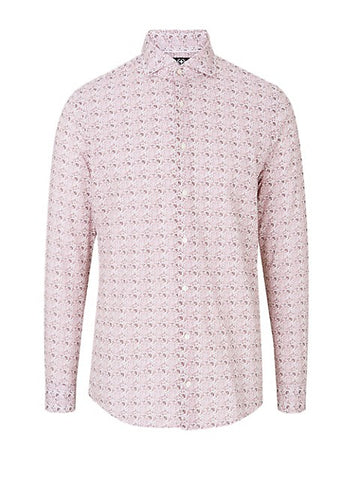 Strellson - Slim Fit Printed Cotton Button-Down Shirt