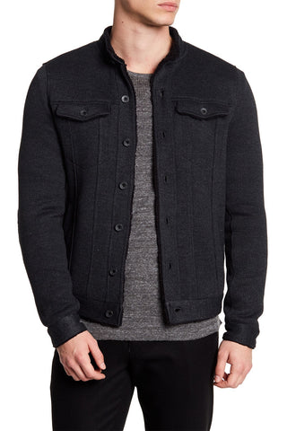 John Varvatos Star USA - Faux Shearling Knit Jacket