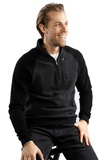 Polaris 1/4 Zip Sweater - Black - 7 Downie St.®