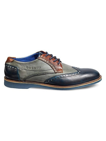 TRI-COLOUR LEATHER BROGUES