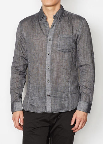 John Varvatos - Lance Roll Sleeve Sport Shirt with Chest Pocket