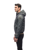 Nobis Elroy Men's Quilted Hooded Jacket - Foggy Blue Navy