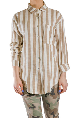 Pure by Eternelle - Stripped linen shirt with one pocket