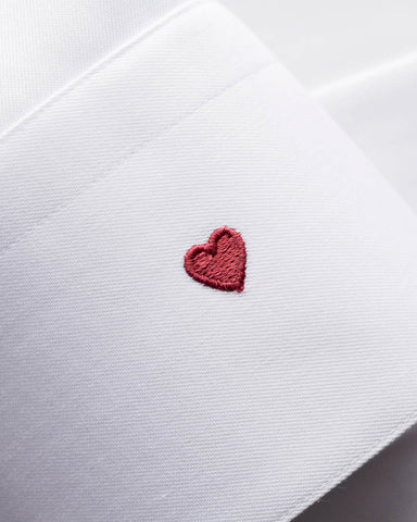 ETON - White LOVE Embroidery Tuxedo Shirt
