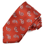 Dion - Tear Drop Paisley Tie in Red