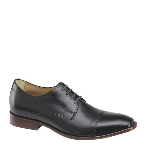 JOHNSTON & MURPHY BLACK MCCLAIN CAP TOE