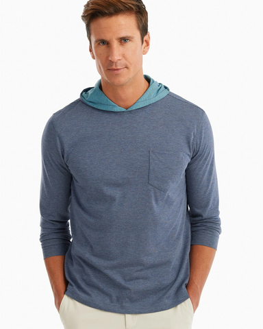 Johnnie-O, Gunnar Striped Long Sleeve Hooded T-Shirt