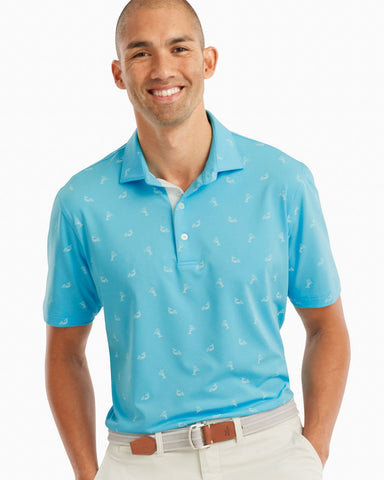 Johnnie-O, Jersey Polo in Bengi Print