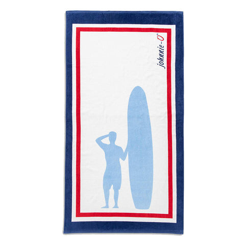 Johnnie-O Sandpiper Beach Towel - Gulf Blue