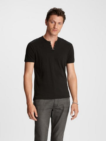 John Varvatos The Short Sleeve Military Eyelet Tee