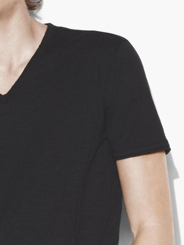 John Varvatos The Short Sleeve Raw Edge V-Neck Tee