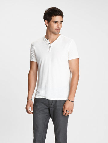 The Short Sleeve Burnout Henley Tee