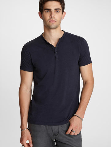 John Varvatos The Short Sleeve Burnout Henley Tee