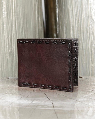 John Varvatos, Leather Pick Stitch Bifold Wallet