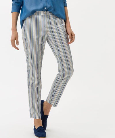 Maron Striped Pull on Pant