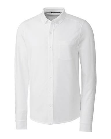 Cutter & Buck - Stretch Oxford Shirt, White