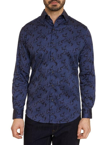 Davino Long Sleeve Shirt - Blue