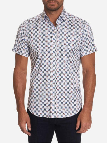 Robert Graham - Racing Flags Short Sleeve Shirt