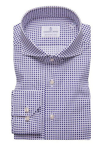 Emanuel Berg Fine Poplin Uniform Dots Luxury Sportshirt