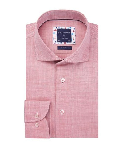 PROFUOMO / RED DOBBY SHIRT