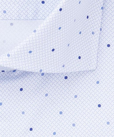 PROFUOMO / BLUE POLKA DOT SHIRT