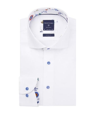 PROFUOMO / WHITE TWILL SHIRT