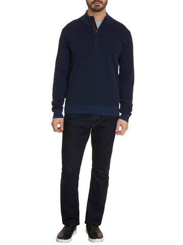Brennand Long Sleeve Sweater - Navy