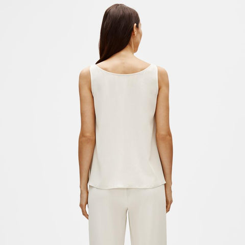EILEEN FISHER - SYSTEM SILK GEORGETTE CREPE TANK