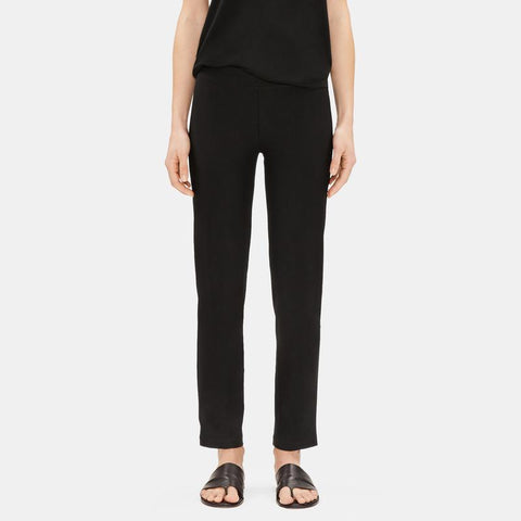 EILEEN FISHER - SYSTEM WASHABLE STRETCH CREPE SLIM ANKLE PANT