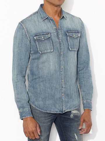 John Varvatos The Snap-Button Western Shirt