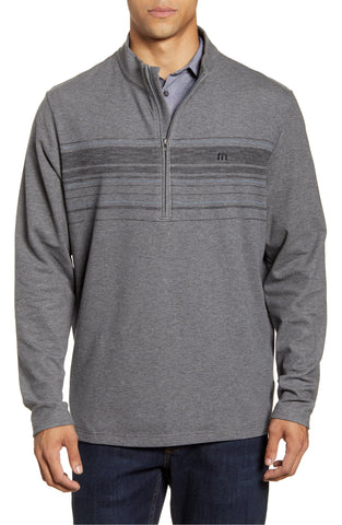 Travis Mathew Transitions Stripe Half Zip Pullover