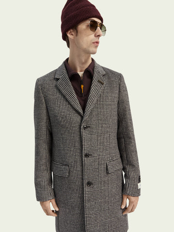 Scotch & Soda - Classic wool-blend single breasted overcoat