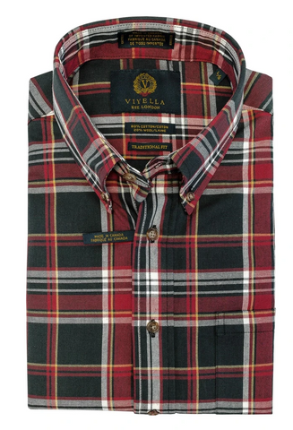 Viyella Royal Stewart Button Down Sport Shirt