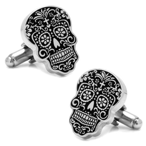 Cufflinks Inc- Silver Day of the Dead Cufflinks