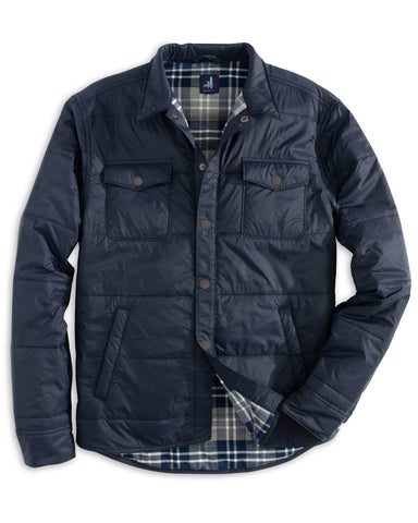 Johnnie-O - Wateford Snap Front Nylon Shirt Jacket