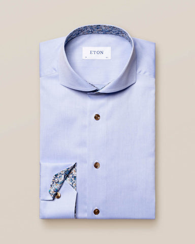 Eton - Blue Signature Twill Details Shirt