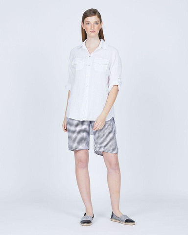 Pistache Loose Double Pocket Linen Blouse by Pistache
